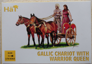 HaT 1/72 HAT8140 Gallic Chariot with Warrior Queen (Ancients)